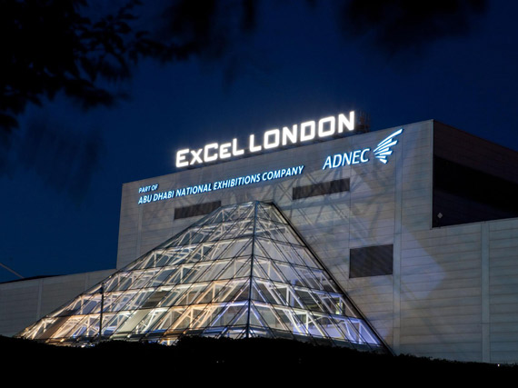 Picture of the ExCel Centre taken at night