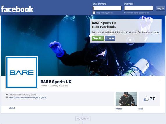 Scuba diving social media