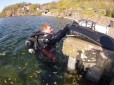 Matt Robinson ready to dive the Hollis Explorer