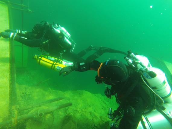 BARE instructors at Vobster Quay diving centre