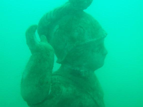 Boy statue at the Portland underwater curiosity park