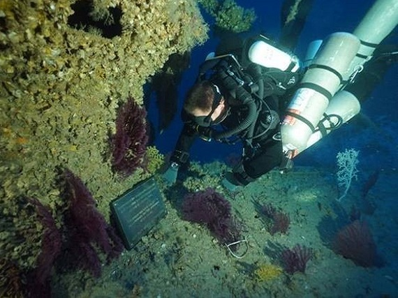 Dr Timmy Gambin dives HMS Olympus
