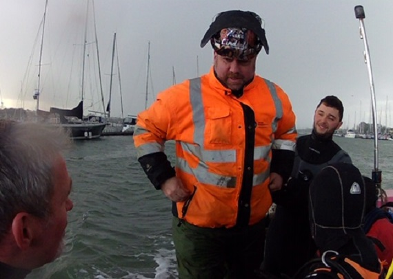 Mike on the river Hamble