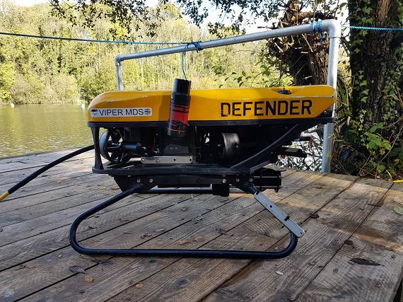 Micro-Ranger 2 fitted to VideoRay Defender ROV