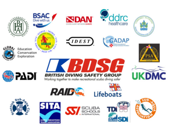 BDSG British Diving Safety Group and agencies
