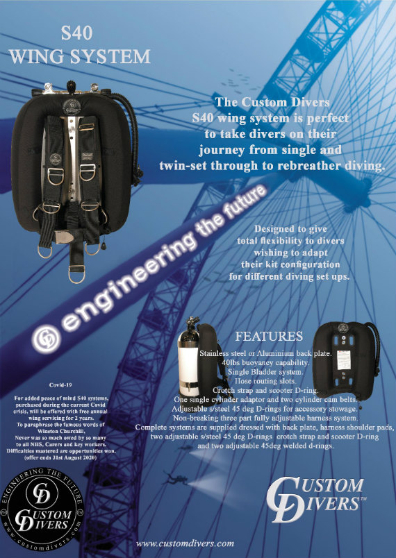 Custom Divers S40 offer August 2020