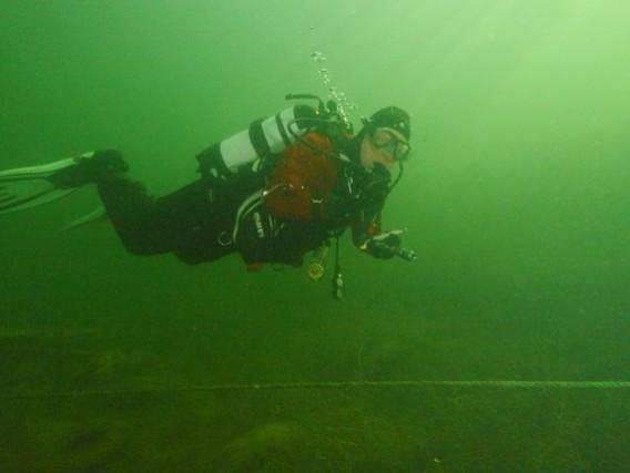 Tony at Brogborough lake